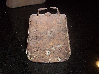 Antique Cow Bell - Medium- 5 inches in height - Forged and Riveted