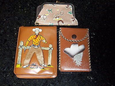 Vintage Coin Purse and Two Vintage Wallets - vintage/wallet/purse/bilfold