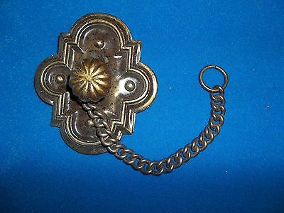 Nos Vintage Antique Brass Chain Pull Gothic Decor Bedroom Furniture Hardware