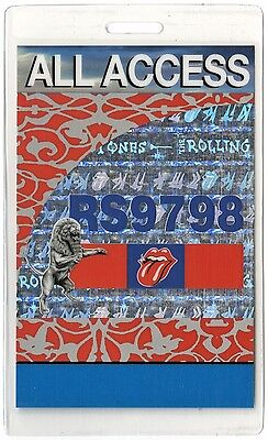 Rolling Stones ALL ACCESS 1997-1998 Laminated Backstage Pass