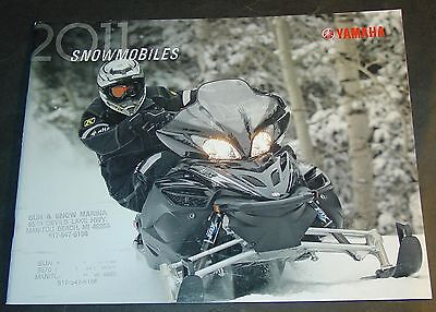 2011 Yamaha Snowmobile Full Line Sales Brochure 36 Pages  (849)