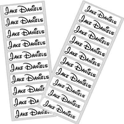 Disney Personalized Iron on School Uniform Labels Name Tag Care Home Waterproof1