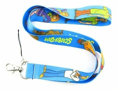 Scooby Doo Neck Lanyard Mobile Phone Strap. Blue. Keys. Id Card. Gift. Shaggy.