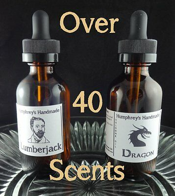 CHOOSE SCENT Men's Premium Argan Beard Oil, Nut Free & Vegan, Over 40 Scents