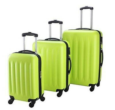 New 3Pcs Green Luggage Travel Set Bag ABS Trolley Suitcase limit buy Green