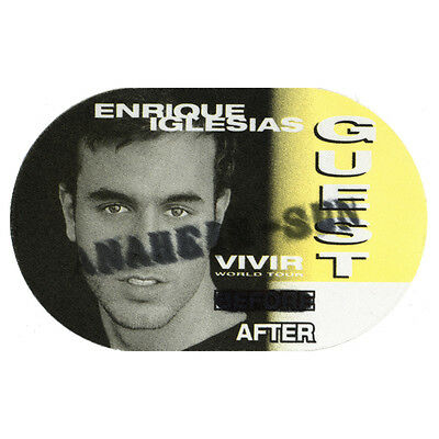 Enrique Iglesias Yellow Guest 1997 Backstage Pass