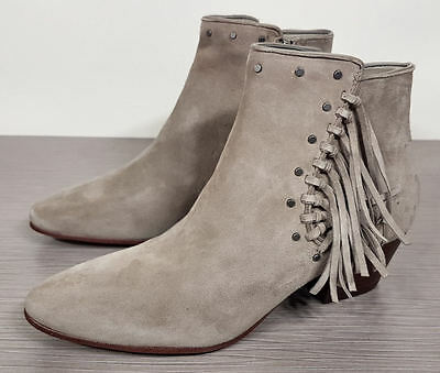7894f3817d78 SAM EDELMAN  RUDIE  Studded Fringe Bootie Tan Suede Womens Size 8 ...