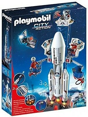 PLAYMOBIL Space Rocket with Launch Site Kit Building Toys Blocks Sets Xmas Gift