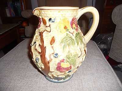 H J Wood hand-painted Indian Tree jug - height 8 inches /21 cms
