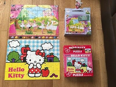 2 Children's Jigsaw Puzzles Hello Kitty & Swan Lake. Age 3+