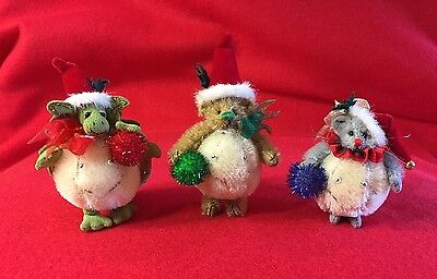 Deb Canham's Snowball Bear, Dragon And Mouse Trio  Le 500