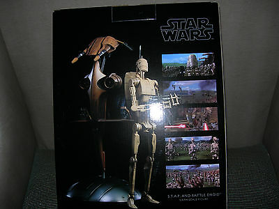 Sideshow Star Wars S.T.A.P. STAP and Battle Droid Brand New Sold Out