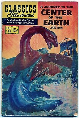 Classics Illustrated, #138 (VG) Center of the Earth, HRN 158, May. 1957