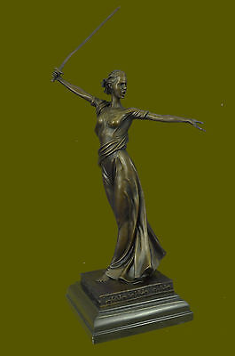 Athena Greek Goddess Grecian Deco Statue Figurine Bronze Sculpture Statue Bg