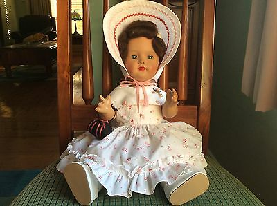 Gorgeous Big Vintage Composition Doll In Amazing Condition.
