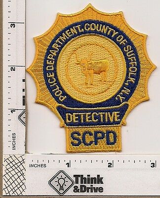 Suffolk County Police Detective breast Patch. New York.
