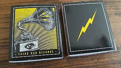Lot of (4) promo matchboxes for THIRD MAN RECORDS-white stripes JACK WHITE- NEW