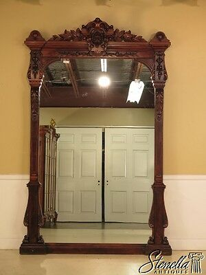 28462EC: Fine Monumental American Victorian Museum Quality Pier Mirror