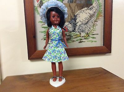 Black Hard Plastic Dress Me Doll 1950s Fom USA 11 Inches Tall,Still In Package