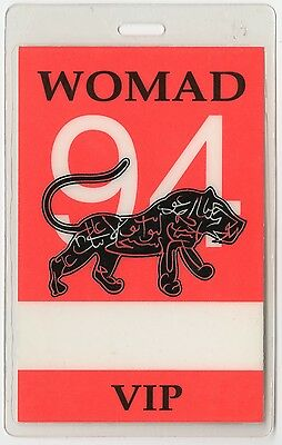 Womad VIP 1994 Laminated Backstage Pass