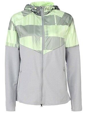 NIKE women HIGHEST QUALITY fanatic RUNNING JACKET HOODIE STAY DRY&WARM FABRIC L