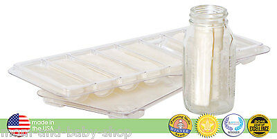 FAIRHAVEN HEALTH MILKIES BREAST MILK FREEZER STORAGE TRAY 16 oz/ 480 ml 2-PK