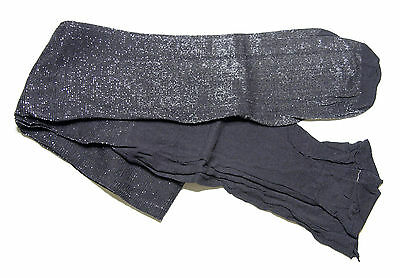 Girls Black and Silver Glitter Sparkle Sparkly Party Tights age 13-14 years NEW