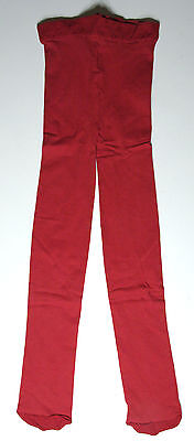 Girls Red Opaque Tights age 13-14 years NEW