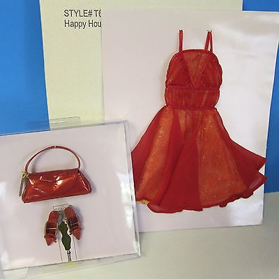 15th Anniversary Convention Tonner Tyler Wentworth boxed RED DRESS, Shoes/purse