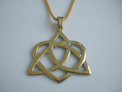 5pcs Antique Greek Gold open Heart With Knot 61*62mm Charm Pendant For Necklace