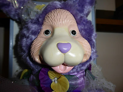 """ROBERT RAIKES Collectibles  PANSY  Signed 15"""" Purple Mohair Rabbit"""