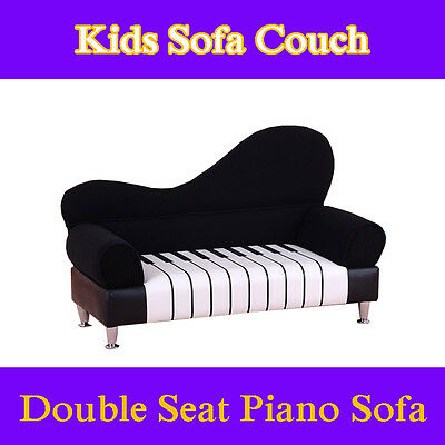 Piano Single Seat Sofa Lounge Couch Chair Flannel Best For Kids love music
