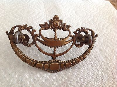 Vintage Ornate Cast Metal--Door Knob Handle