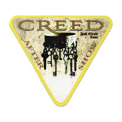 Creed Yellow Aftershow 2010 Backstage Pass