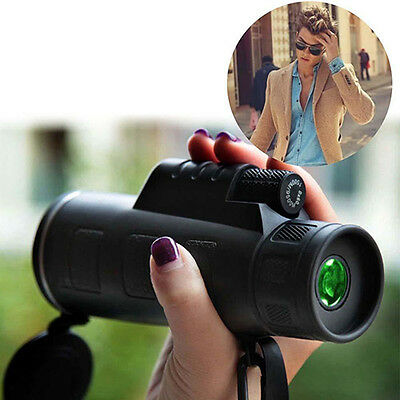 Outdoor 40X60 Night Vision Adjustable Monocular Travel Hunting Telescope Novelty
