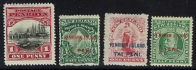 Penrhyn Islands - 4 Older Mint and Used Issues - 080716