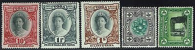 Tonga 5 older Issues, Mint Hinged/Mint Lightly Hinged -  Lot 010216