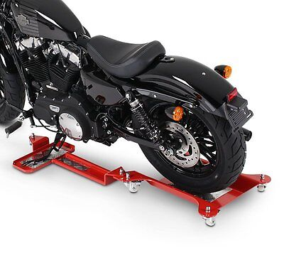 Rail de Rangement Moto pour Harley Sportster Forty-Eight 48 ConStands M2 rouge