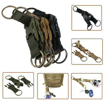 New Tactical Backpack Belt Buckle Double Key Chain Quick Release Buckle Keyring