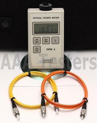 AFL Noyes OPM4 SM MM Fiber Optic Power Meter OPM 4-4B OPM4-4B OPM4-4 4