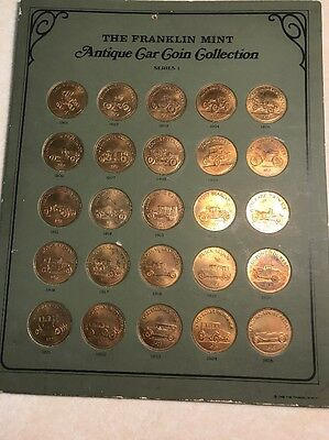 FRANKLIN MINT Antique Car Coin Collection Series 1 - 25 Coins