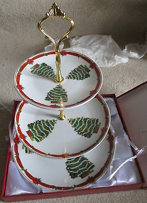 ACE Gift Collection 3 Tiered Porcelain Cup Cake Plate Stand