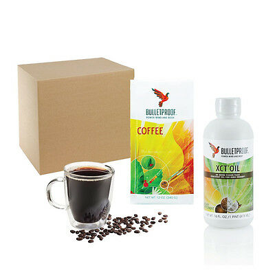 Bulletproof® Starter Kit - XCT Oil 473ml and Ground Coffee 340gm