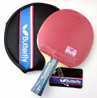 Butterfly Table Tennis Paddle /Bat: TBC-501 TBC501, w/ Case, 2 side Pips-in, UK