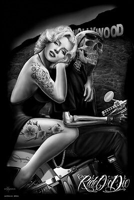 MARILYN HOLLYWOOD - RIDE OR DIE POSTER (91x61cm)  PICTURE PRINT NEW ART