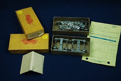 """2 pc lot AUEL INDUSTRIES O GUAGE 1/4"""" ANDREWS SIMPLIFIED FREIGHT TRUCKS TRAINS"""