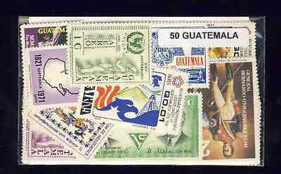 Guatemala 50 timbres différents