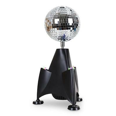 SPIEGEL DISKO KUGEL 9x RGB LED ROCKET RAKETEN MIRROR BALL 13CM TISCH PARTY DISCO