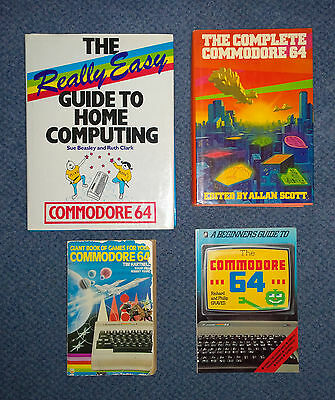 4 x Commodore 64 books - Really Easy Beginners Guide Giant Book Games C64 Micro