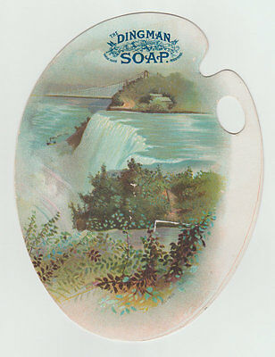 Large Victorian Trade Card, Dingman Soap, The Niagra River
